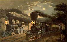 1850s steam trains