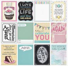 The Sweet Life Journaling Cards (set of 24) by Everyday is a Holiday  perfect for project life!