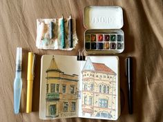 Travel sketch kit open by Counterklock48