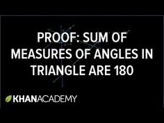 Proof: Sum of measures of angles in a triangle are 180