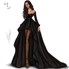 """( """"Diamond Ball 2017 Share your opinion.…"""" ( """"Diamond Ball 2017 Share your opinion.…"""" Two Piece A-Line Bateau Long Sleeves Black Floor Length Prom/Evening Dress With Lace on Luulla Fashion Illustrations Happy Birthday Naomi Campbell Dress Design Drawing, Dress Design Sketches, Dress Drawing, Fashion Design Drawings, Fashion Sketches, Fashion Drawing Dresses, Fashion Illustration Dresses, Fashion Illustrations, Drawing Fashion"""
