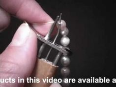 How to Use EZ KNOTTER Bead & Pearl Knotting TOOL *tool is 19.99$ here: http://www.beadaholique.com/p-10477-beadsmith-ez-knotter-bead-and-pearl-knotting-tool.aspx