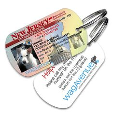 New Jersey Driver's License Pet Tag - Personalized Pet Tag, Custom Pet Tag, Dog License ID,  Dog Tags for Dogs, Dog License Tags, Dog ID Tag