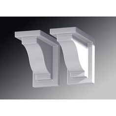Mayne Mailposts Yorkshire Window Box Set of 2 White Decorative Brackets