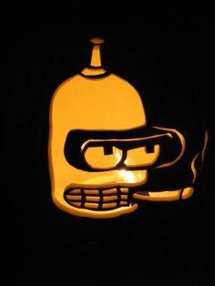 Futurama Bender Pumpkin