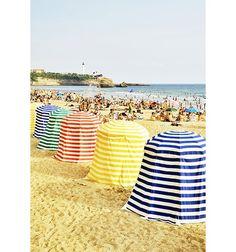 Kicking it in a cabana at the beach. Love cabana stripes!!