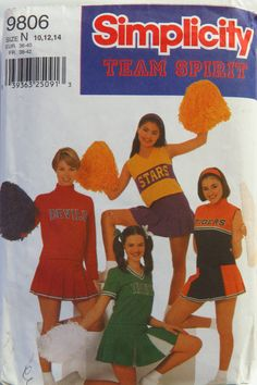 Simplicity 9806 Misses'/Miss Petite Design Your Own Cheerleader Outfits