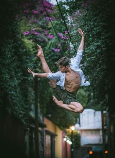 Ballerina that looks like he's doing a Spiderman