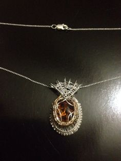 Wire Wrapped Jewelry Handmade Heady Pendant 14KT by AOAjewelry, $68.25