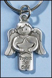 Protect This Child Angel Backpack Hang, Perfect to Hang on Your Childs Back Pack, May Also Be Used As a Keychain by Hail Mary Gifts, http://www.amazon.com/dp/B008KKTKXA/ref=cm_sw_r_pi_dp_3x9Uqb0AJ3Y3W