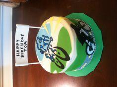 Bike themed cake