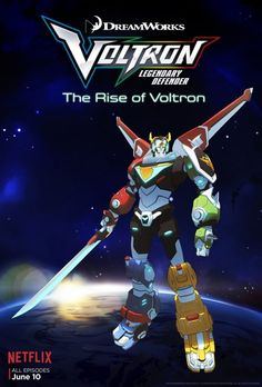 The are hot on Netflix with reboots of some of our favorite childhood cartoons. Next up for the Netflix treatment: Voltron! Check out fun facts, cast lineup and free coloring sheets from Voltron: Legendary Defender! Voltron Poster, New Voltron, Voltron Force, Form Voltron, Voltron Fanart, Tv Series 2016, Netflix Series, Voltron Season 1, Cgi