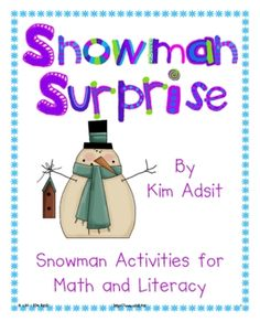 No matter where you live in the country, when it comes to winter, we all think of snow and snowmen! This packet contains nearly 70 pages of snowman...