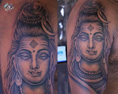 May Lord Shiva bless you and your family with all the happiness and health. May he protects us all from evil and give us strength to face the challenges of life. #lordshivatattoo #lordshiva #shivatattoo #blackandgreytattoo #inklover #teamaaryans #ahmedabad #gujarat #india Call/What's app: Get Inked from Experienced Professional Tattoo Artists. Bodakdev: 9099801171 Chandkheda: 7878601172 Shiva Tattoo, Professional Tattoo, Creative Tattoos, Lord Shiva, Ahmedabad, Black And Grey Tattoos, Tattoo Artists, Strength, Challenges