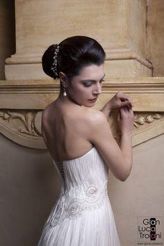 for Gian Luca Troiani One Shoulder Wedding Dress, Wedding Dresses, Women, Fashion, Bride Dresses, Moda, Bridal Wedding Dresses, Fashion Styles, Weeding Dresses