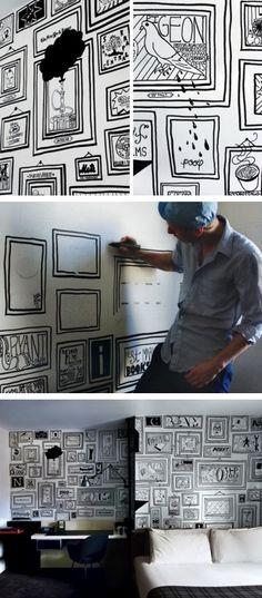 El diseñador Tim Goodman transforma las paredes blancas del Ace Hotel en Nueva York