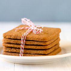 Homemade Graham Crackers.    This recipe is pretty much a shortbread recipe with graham flour. When baked, it takes a bit like toffee. Be careful not to over bake! I baked mine for 5 or 6 minutes each time and they turned out great!~Eva