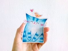 Hey, I found this really awesome Etsy listing at https://www.etsy.com/il-en/listing/261115605/blue-cat-magnet-refrigerator-magnet