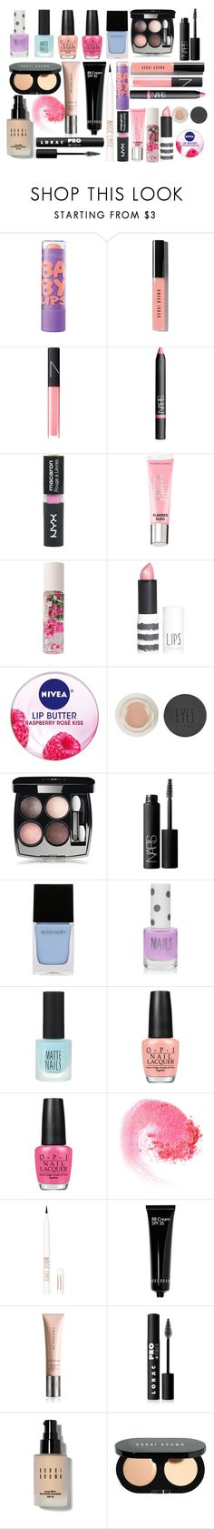 """""""Alison Dilaurentis inspired makeup"""" by xzozebo ❤ liked on Polyvore featuring Maybelline, Bobbi Brown Cosmetics, NARS Cosmetics, Topshop, Beauty Rush, Forever 21, Nivea, Chanel, Witchery and OPI"""