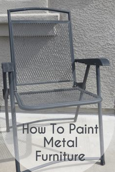 How to paint metal furniture.  Lots of other painting tutorials here too.