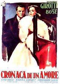 LAS PELÍCULAS QUE YO VEO: una página de cine: CRÓNICA DE UN AMOR (Cronaca di un amore, 1950), de Michelangelo Antonioni: Carteles de cine