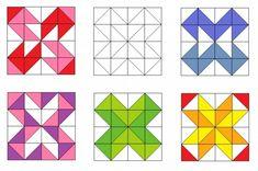 Образцы лоскутных блоков с использованием квадратов и треугольников.. Обсуждение на LiveInternet - Российский Сервис Онлайн-Дневников
