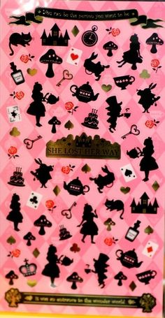 Alice in wonderland story theme Japanese sticker  by beautifulwork, $3.50