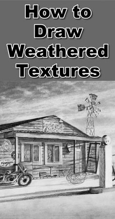 Drawing Tutorial Learn how to draw weathered textures in graphite drawing with this online art class 3d Drawing Techniques, Drawing Skills, Drawing Lessons, Drawing Tips, Drawing Sketches, Drawing Ideas, Art Lessons, Drawing Classes, Learn Drawing