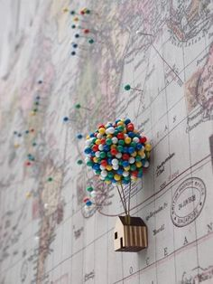 Inspired by Disney's Up, perfect to mark your travels or just keep on your calendar!