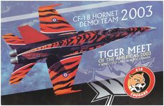 2003 CF-18 Air Demonstration Team Poster - Tiger Meet of the Americas