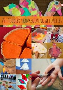 25+ Thanksgiving Activities for Toddlers - Kids Activities Blog.  Looking for something to do with your Toddler's this Thanksgiving?  We like these ideas that positively encourage children and family bonding time.