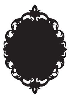 baroque frame stencil -- Found it!! ;)