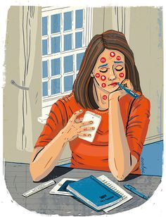 Notificiation Sickness: Editorial Illustration - Eva Bee Illustration: Ideas based, Conceptual Illustrations