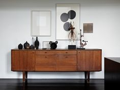 Mid-century furniture: Let's fall in love with the most amazing mid-century modern credenzas. With a mid-century design, this credenza will elevate your mid-century modern interior Mid Century Modern Living Room, Mid Century Modern Furniture, Midcentury Modern, Mid Century Modern Sideboard, Home Furniture, Furniture Design, Furniture Ideas, Vintage Furniture, Street Furniture