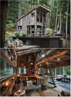 One room New York cabin in the woods - We have featured some amazing retreats over the last couple of months, but none as special as this wooden cabin in Yulan, NY. It is owned by fashion stylist and interior designer Scott Newkirk.