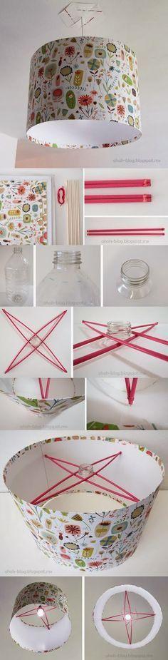 How to make beautiful lampshade   DIY & Crafts Tutorials --> http://www.ohohblog.com/2012/11/diy-lampshade-pantalla.html  //Manbo