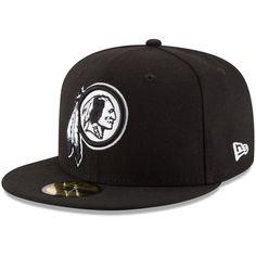 Washington Redskins New Era B-Dub 59FIFTY Fitted Hat - Black Redskins Hat c3f128b1e