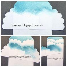 Tutorial fondo nubes  Diy inks clouds