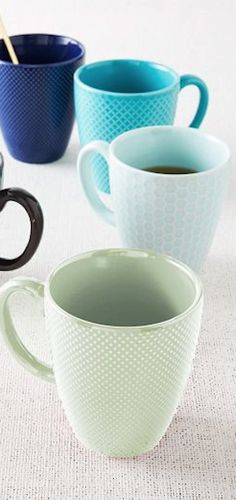 #mint textured mugs http://rstyle.me/n/mnfn5r9te