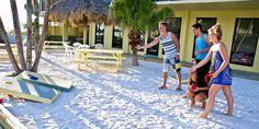 Corn hole at the resort #beachactivities