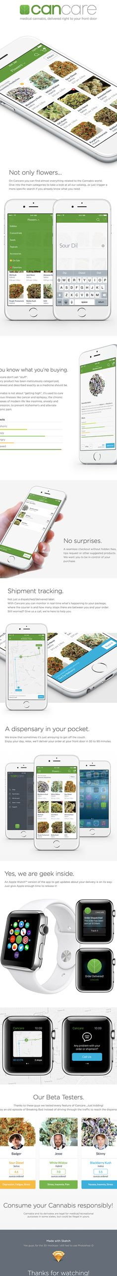Cancare - Medical Marijuana Delivery App on Behance