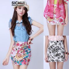 VINTAGE HIGH WAISTED FLOWER Wrap SKIRTS TIGHT SHORTS from @Luulla ♥ ♥ ♥