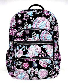 NEW Vera Bradley Campus Backpack ALPINE FLORAL Backpack Bags 3f96ad9b312ea