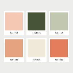 Color Palette No. 43 Warm and cozy. Color Palette No. 43 Warm and cozy. Palette Pastel, Green Colour Palette, Green Colors, Adobe Color Palette, Autumn Color Palette, Peach Palette, Palette Design, Peach And Green, Peach Orange Color