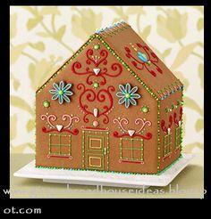 folk art gingerbread house