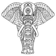 Elephant Mandala Coloring Pages Mandalas Painting, Mandalas Drawing, Mandala Coloring Pages, Animal Coloring Pages, Colouring Pages, Adult Coloring Pages, Coloring Books, Deco Elephant, Elephant Love