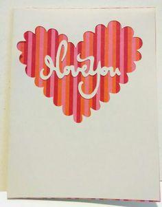I love you heart card
