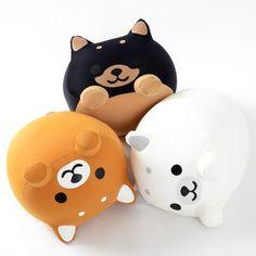 In Japanese, a dog barks 'wan wan', while a cat goes 'nya nya'. Picture of Mogucchi Wan Wan Plushies 1 Balle Anti Stress, Instruções Origami, Cute Squishies, Cute Stuffed Animals, Mode Shop, Plush Pattern, Beanie Babies, Cute Pillows, Cute Plush