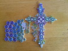 Quilling a Holy Cross by Karen Miniaci. Quilling Supplies from 'Quilled Creations'