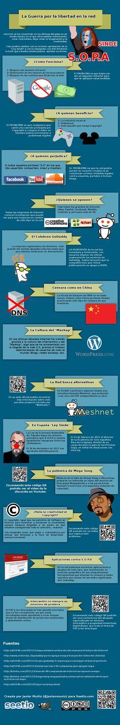 La guerra por la libertad en la red #infografia #infographic #internet